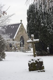 The Cross And The Chapel Stock Photo