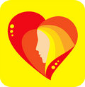 Free Heart With Profile Royalty Free Stock Image - 1892706
