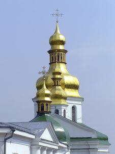 Free Kiev Pechersk Lavra Cupola Stock Photo - 1892110