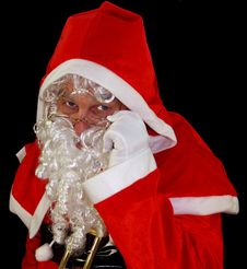 Careful Santa Stock Photography