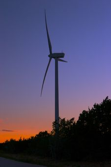 Free Wind Farm At Dusk Stock Photos - 1894193