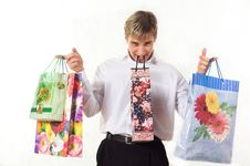 Free Shopping Young Man Royalty Free Stock Image - 1894996