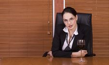 Free Business Woman Wine Stock Images - 1895054