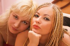 Happy Young Women Stock Images