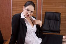 Free Business Woman On Boardroom Table Stock Images - 1895234