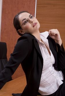 Free Business Woman Looking Up Stock Photo - 1895240