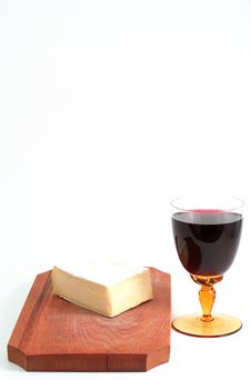 Free Cheese And Red Wine Stock Image - 1895381