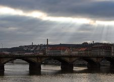Free Light Rays Over Prague Royalty Free Stock Photos - 1895398