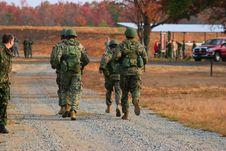 Free Marine Squad Running Royalty Free Stock Image - 1895646