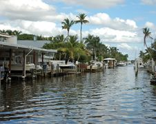Waterfront Homes In Florida Stock Photography