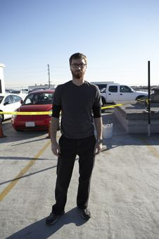 Standing In A Parking Lot 01 Stock Photography