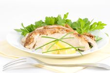 Free Serve Cold Lemon Chicken Stock Photo - 1896220