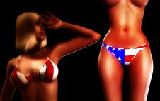 Sexy USA Women 8 Royalty Free Stock Photo