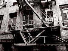 Free Vintage Fire Escape Royalty Free Stock Image - 1897276