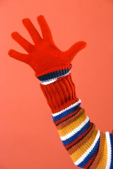 Free Colorful Sweater And Glove Royalty Free Stock Photos - 1898438