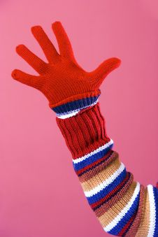 Free Colorful Sweater And Glove Stock Photography - 1898492