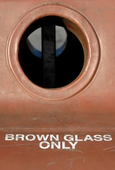 Free Brown Glass Only Stock Image - 1898961