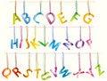 Free Сute 3d Alphabet (caps) On The Strings Royalty Free Stock Photo - 18905665