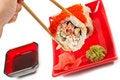 Free Men S Hand Holding Sushi Stock Images - 18909844