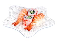 Free Sushi And California Maki On A Plate Royalty Free Stock Images - 18900729