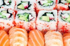 Free Susihi And California Maki Close Up Stock Photos - 18900763