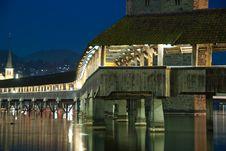 Free Lucerne, The Chapel Bridge Stock Photography - 18900782