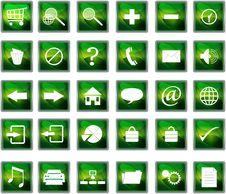 Free Plastic Navigation Icons Royalty Free Stock Photos - 18900878