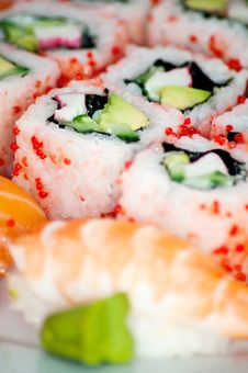 Free Sushi - Traditional Japanese Food. Royalty Free Stock Photos - 18900978