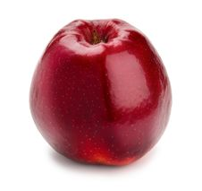 Free Ripe And Juicy Red Apple Shank Downwards Isolated Stock Photo - 18900990