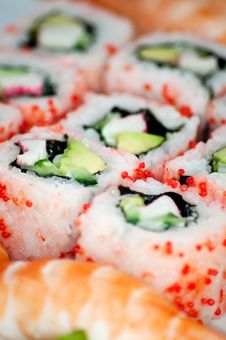 Free Sushi - Traditional Japanese Food. Stock Image - 18901021