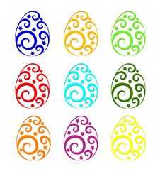 Free Eggs With Ornament Royalty Free Stock Photo - 18901085