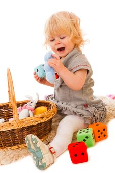 Free Little Girl Playing Stock Image - 18901481