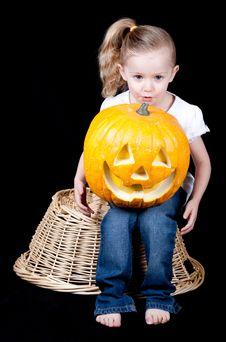Free Pumpkin On Lap Stock Photos - 18902563