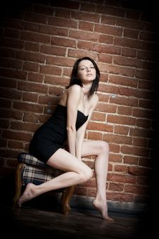 Free Beautiful Girl In The Chair Royalty Free Stock Photos - 18902738