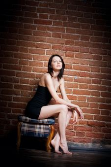 Free Beautiful Girl In The Chair Royalty Free Stock Photo - 18902775
