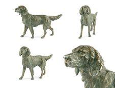 Free Vintage Dog Metal Figurine Royalty Free Stock Image - 18902806