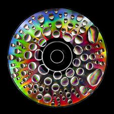 CD With Waterdroplets On Stock Image