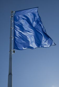 Free Blue Flag Stock Photography - 18903192