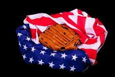 Free America Supports Baseball Royalty Free Stock Images - 18903689