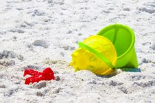 Beach Buckets Royalty Free Stock Photo