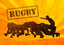 Free Rugby Players Engaged In Scrum Stock Images - 18904914