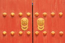 Free Chinese Door Stock Photo - 18905520