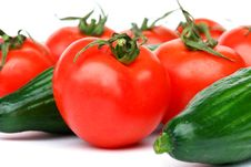Free Tomatoes And Cucumbers Royalty Free Stock Photos - 18905578