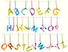Free Сute 3d Alphabet (caps) On The Strings Royalty Free Stock Photo - 18905665