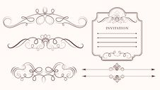 Free Set: Calligraphic Design Elements Royalty Free Stock Photography - 18905667