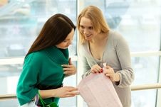 Young Women In Store Royalty Free Stock Images