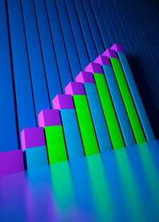 Business Graphics And Forex Indicators Stock Photo