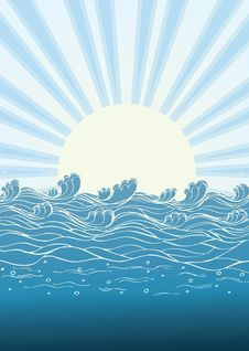 Free Sea Waves In Sun Day. Royalty Free Stock Photo - 18907325