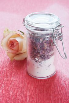 Free Dried Rose Petals In A Jar Stock Images - 18907634