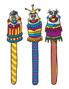Free Clown Lollypops Stock Image - 18907651